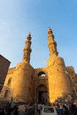 Bab Zuweila Gateway Minarets Traffic People Royalty Free Stock Photo