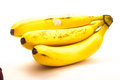 Babanas bunch of bananas isolated on white background Stock Image