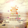 Babel tower concept Royalty Free Stock Photo