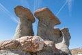 Babele in bucegi mountains stone group named carpati romania Stock Photography