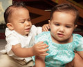 Babies breaking up Royalty Free Stock Images