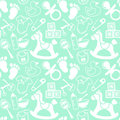 Babies mint pattern seamless about Stock Photography