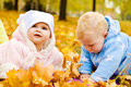 Babies in park Royalty Free Stock Images