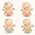 Babies. Vector illustration. Stock Image