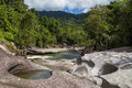 Babinda boulders in queensland australia photograph of the Royalty Free Stock Images