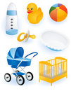 Baby accessories Stock Photo