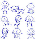 Baby actions illustration of a set of a with different Stock Image