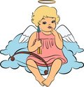 Baby angel with wings Royalty Free Stock Image