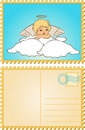 Baby angel with wings. Stock Image