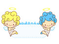 Baby angels mascot are pendency angel character design series Stock Photography