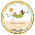 Baby announcement card Royalty Free Stock Images