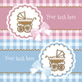 Baby announcement card vector illustration Royalty Free Stock Image
