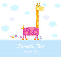 Baby arrival announcement card Stock Image