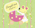 Baby arrival announcement card Royalty Free Stock Photos