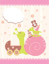 Baby arrival announcement card vector Stock Image