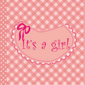 Baby arrival announcement for girl Royalty Free Stock Image