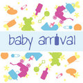 Baby arrival card Royalty Free Stock Images