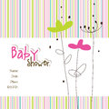 Baby arrival card with copy space Royalty Free Stock Photography