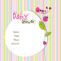 Baby arrival card with copy space Royalty Free Stock Photo