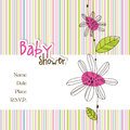 Baby arrival card with copy space Royalty Free Stock Image