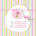 Baby arrival card with copy space Royalty Free Stock Images