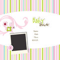 Baby arrival card with copy space Stock Images