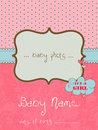 Baby Arrival Card with Photo Frame Stock Photos