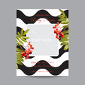 Baby Arrival Card with Photo Frame - Autumn Floral Theme Royalty Free Stock Photo