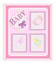 Baby arrival cards.  girl  Stock Photography