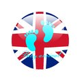 Baby arrival prince england background Royalty Free Stock Photography