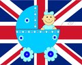 Baby arrival prince england background Royalty Free Stock Image