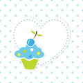 Baby background with cupcake boy Stock Photo