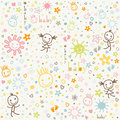 Baby background with cute elements Royalty Free Stock Photo