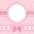 Baby background with frame vector illustration Royalty Free Stock Images