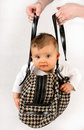 Baby in the bag Royalty Free Stock Photography
