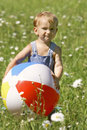 Baby with ball Royalty Free Stock Images