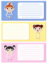 Baby ballerinas notes Stock Images