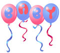 Baby balloons Royalty Free Stock Images