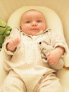 Baby in Bassinet Royalty Free Stock Photos
