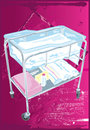 Baby Bassinet Stock Image