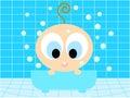 Baby in the bathtub