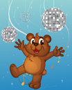 A baby bear dancing illustration of Royalty Free Stock Photos
