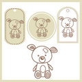 Baby bear labels Royalty Free Stock Photography