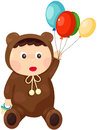 Baby in bear outfit Stock Images