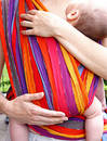 baby in belly cloth Royalty Free Stock Photo