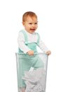 Baby in the bin Royalty Free Stock Photo