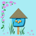 Baby birds birdhouse Royalty Free Stock Photos