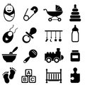 Baby and birth icons infant icon set Stock Images