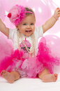 Baby birthday one year old Royalty Free Stock Photography