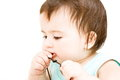 Baby biting Royalty Free Stock Photo